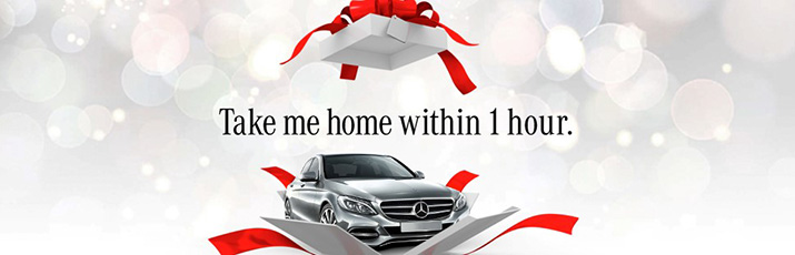 Take me home within one hour at Mercedes-Benz Berwick Melbourne offer